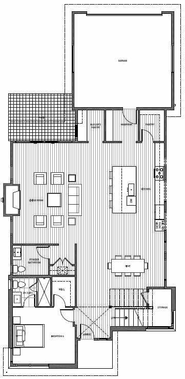 First Floor Plan of 11225 132nd Ave NE, Sheffield Park, in Kirkland, WA