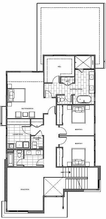 Second Floor Plan of 11225 132nd Ave NE, Sheffield Park, in Kirkland, WA