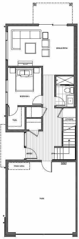 First Floor Plan of 11510A NE 87th St in Kirkland