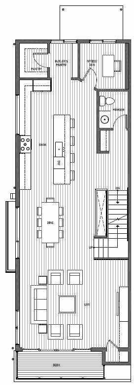 Second Floor Plan of 11510A NE 87th St in Kirkland