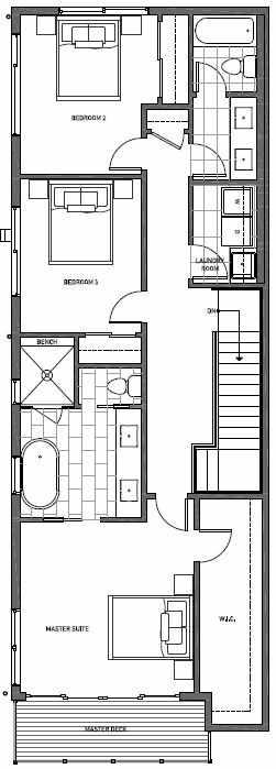 Third Floor Plan of 11510A NE 87th St in Kirkland