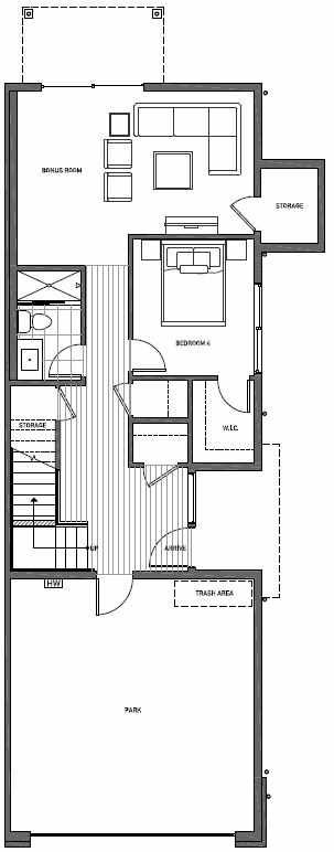 First Floor Plan of 11510B NE 87th St in Kirkland