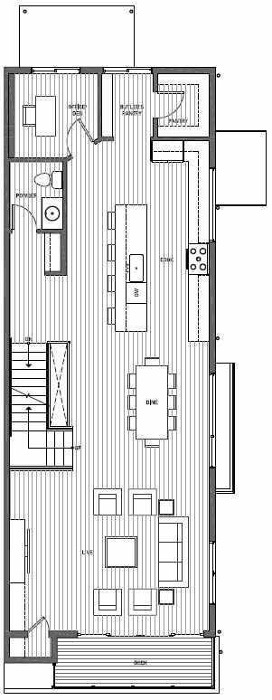 Second Floor Plan of 11510B NE 87th St in Kirkland