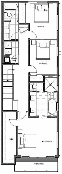 Third Floor Plan of 11510B NE 87th St in Kirkland