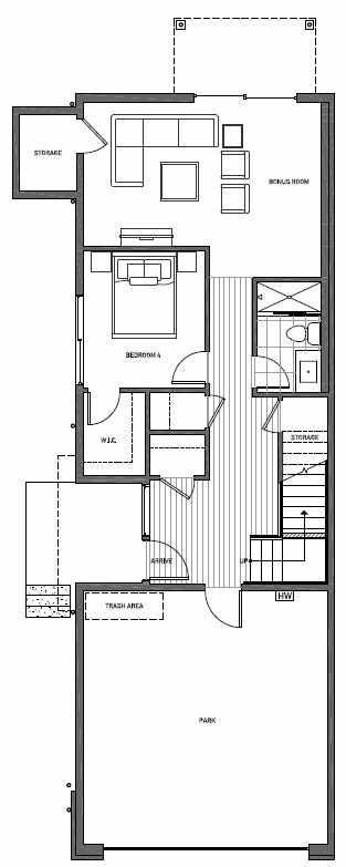 First Floor Plan of 11514A NE 87th St in Kirkland
