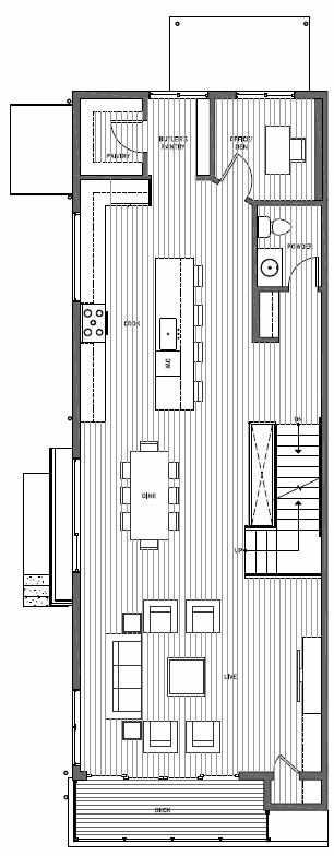 Second Floor Plan of 11514A NE 87th St in Kirkland