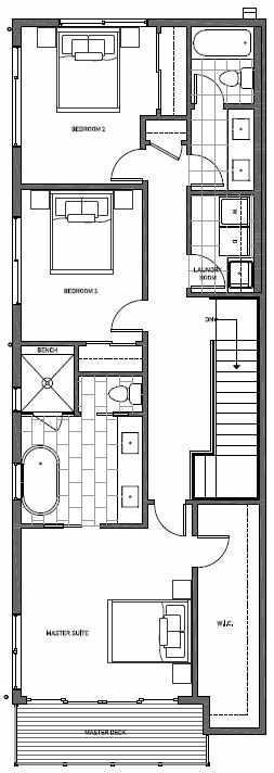 Third Floor Plan of 11514A NE 87th St in Kirkland