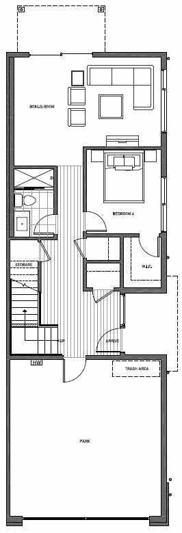 First Floor Plan of 11514B NE 87th St in Kirkland