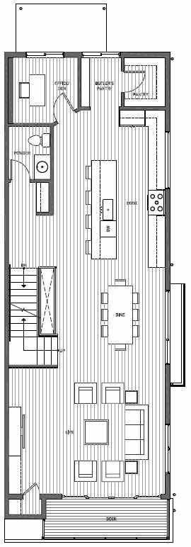 Second Floor Plan of 11514B NE 87th St in Kirkland