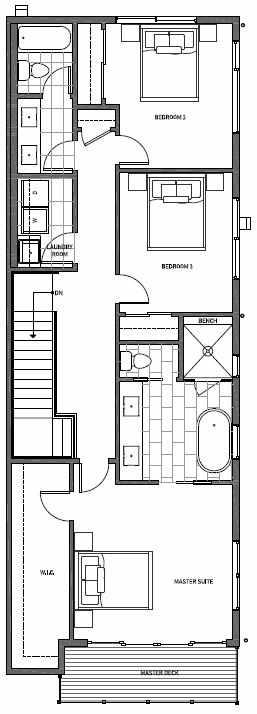 Third Floor Plan of 11514B NE 87th St in Kirkland