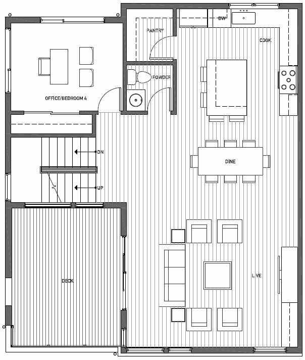 Second Floor Plan of 11518A NE 87th St in Kirkland