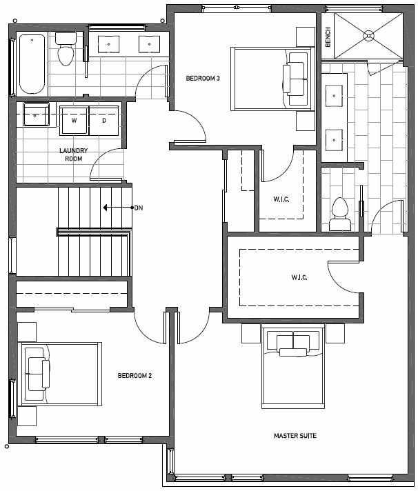 Third Floor Plan of 11518A NE 87th St in Kirkland