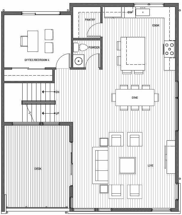 Second Floor Plan of 11518B NE 87th St in Kirkland