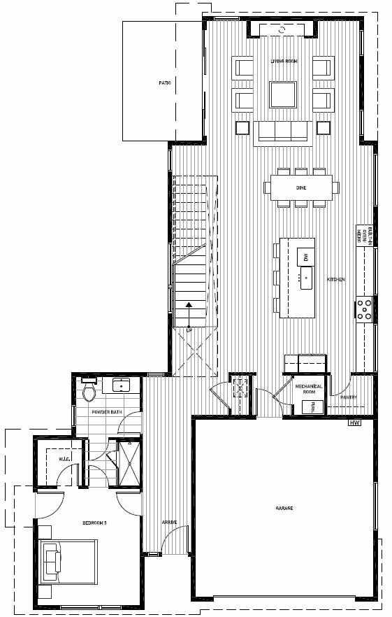 First Floor Plan of 13120 NE 112th St, Sheffield Park, in Kirkland, WA