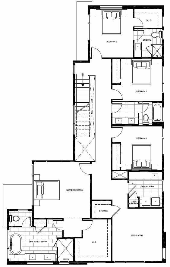 Second Floor Plan of 13120 NE 112th St, Sheffield Park, in Kirkland, WA