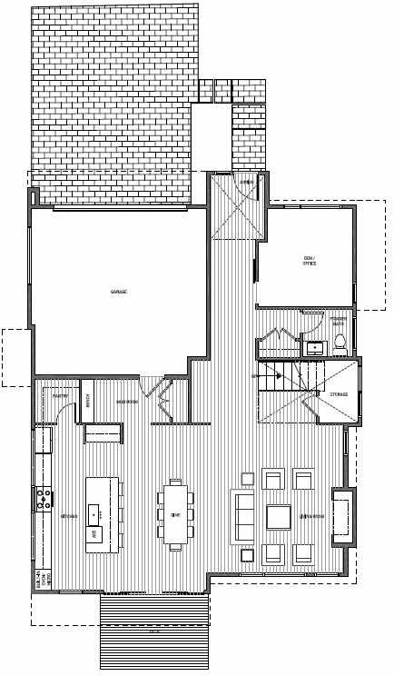 First Floor Plan of 13123 NE 113th St, Sheffield Park, in Kirkland, WA