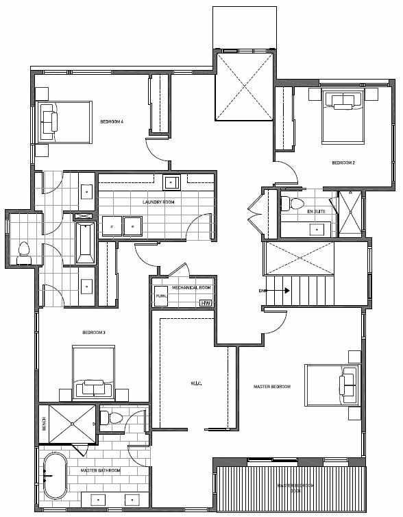 Second Floor Plan of 13123 NE 113th St, Sheffield Park, in Kirkland, WA
