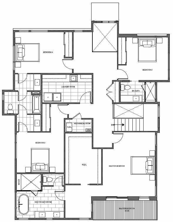 Second Floor Plan of 13123 NE 113th St, Sheffield Park, in Kirkland, WA
