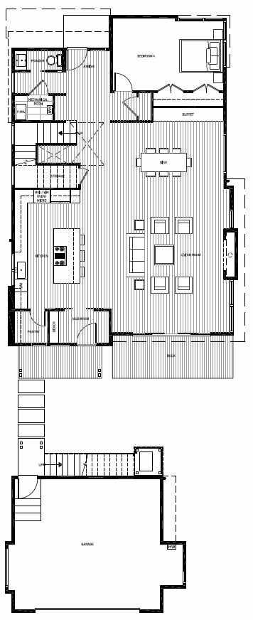 First Floor Plan of 13127 NE 113th St, Sheffield Park, in Kirkland, WA