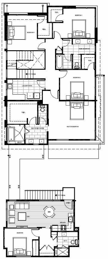 Second Floor Plan of 13127 NE 113th St, Sheffield Park, in Kirkland, WA