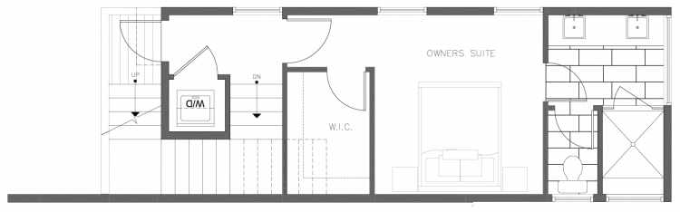 Third Floor Plan of 1319 NW 85th St in the Thoren Townhomes
