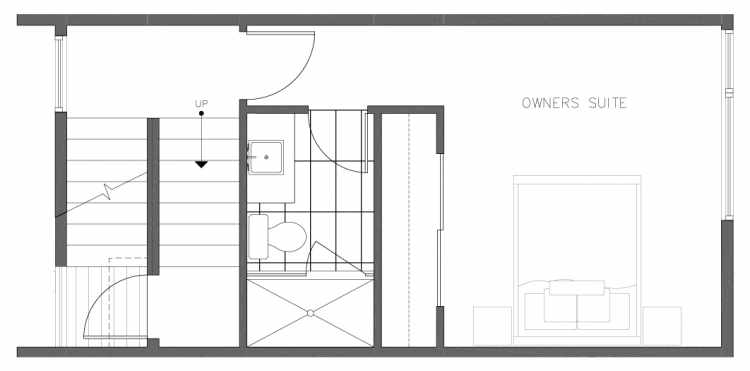 Third Floor Plan of 1321 NW 85th St in the Thoren Townhomes