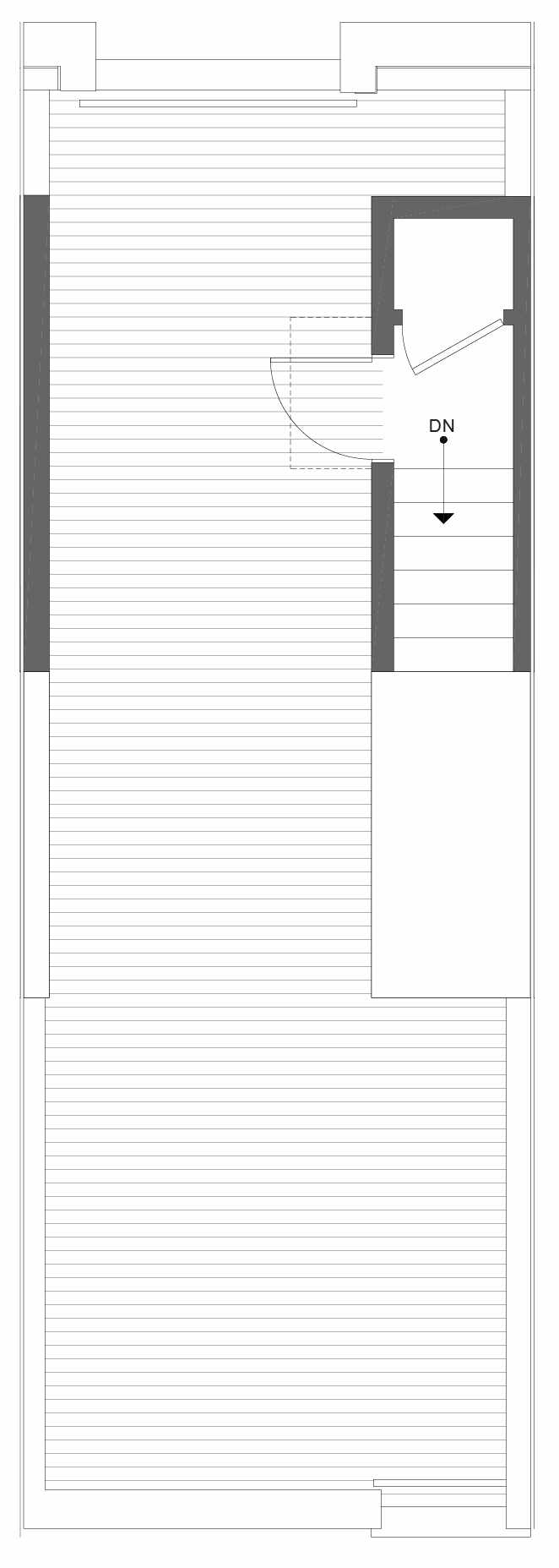 Roof Deck Floor Plan of 1326 E Spring St in the Corazon Townhomes in Capitol Hill