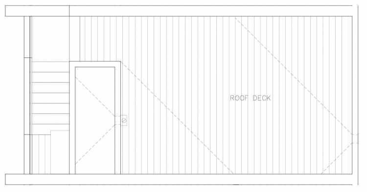 Roof Deck Floor Plan of 1327 NW 85th St in the Thoren Townhomes