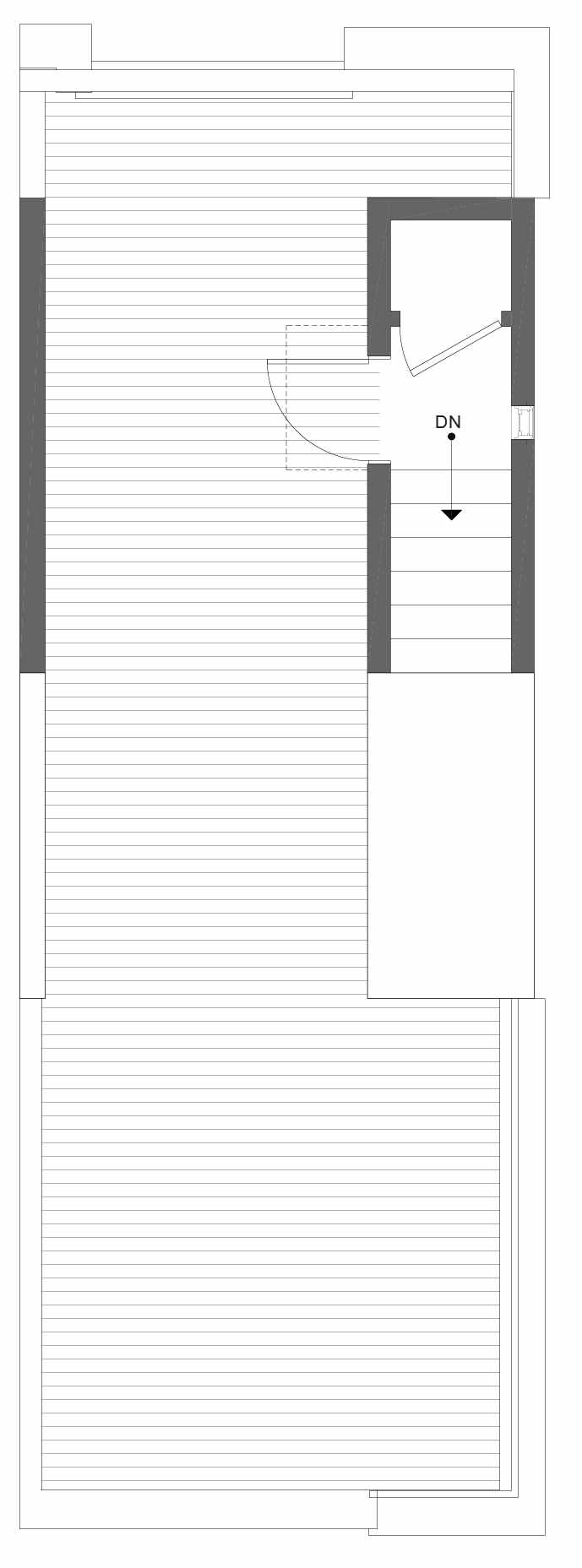 Roof Deck Floor Plan of 1330 E Spring St in the Corazon Townhomes in Capitol Hill