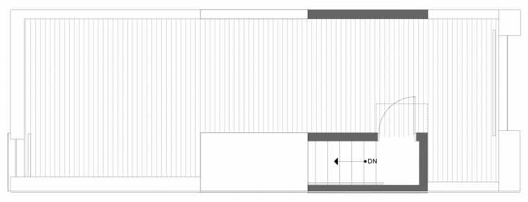Roof Deck Floor Plan of 1334 E Spring St in the Corazon Townhomes