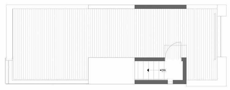 Roof Deck Floor Plan of 1338 E Spring St in the Corazon Townhomes