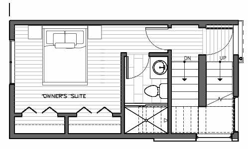 Third Floor Plan of 1415 E Harrison St, One of the Mika Townhomes in Capitol Hill by Isola Homes