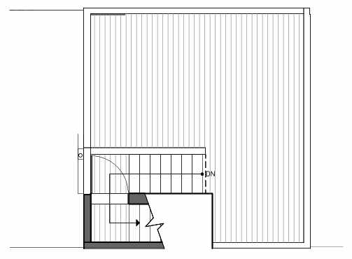Roof Deck Floor Plan of 1421 E Harrison St, One of the Mika Townhomes in Capitol Hill by Isola Homes