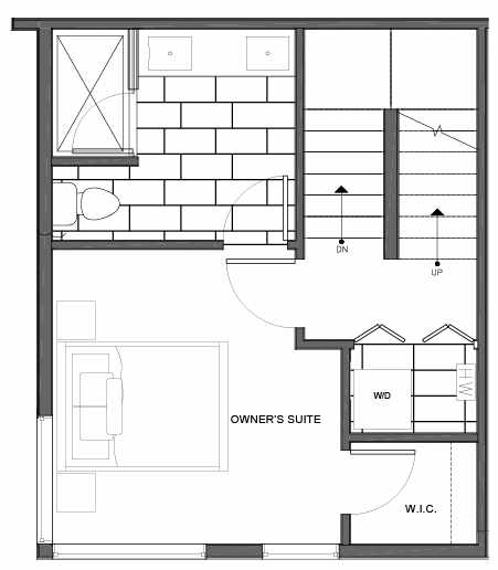 Third Floor Plan of 14335A Stone Ave N, One of the Maya Townhomes in Haller Lake