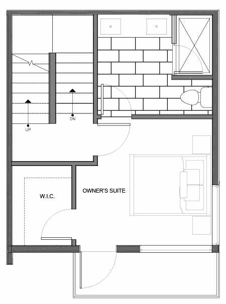 Third Floor Plan of 14335B Stone Ave N, One of the Maya Townhomes in Haller Lake
