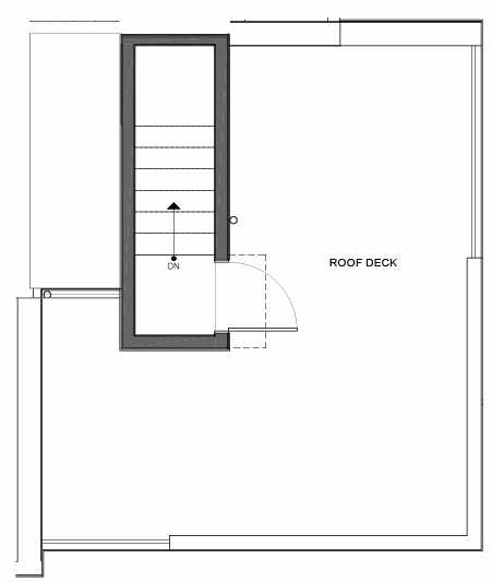 Roof Deck Floor Plan of 14335B Stone Ave N, One of the Maya Townhomes in Haller Lake