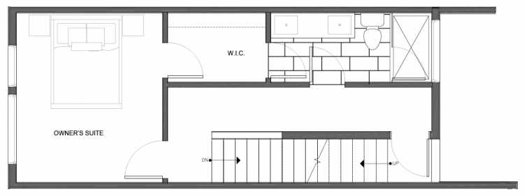 Third Floor Plan of 14335C Stone Ave N, One of the Maya Townhomes in Haller Lake