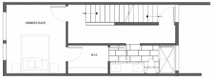Third Floor Plan of 14335D Stone Ave N, One of the Maya Townhomes in Haller Lake