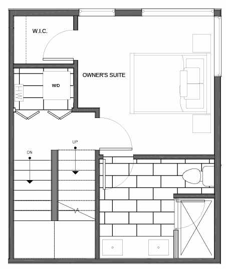 Third Floor Plan of 14335E Stone Ave N, One of the Maya Townhomes in Haller Lake