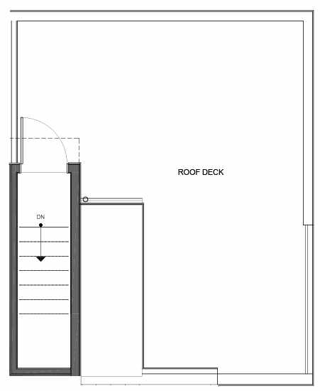Roof Deck Floor Plan of 14335E Stone Ave N, One of the Maya Townhomes in Haller Lake