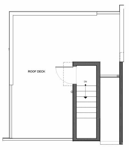 Roof Deck Floor Plan of 14335F Stone Ave N, One of the Maya Townhomes in Haller Lake