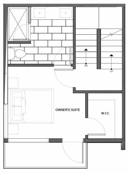 Third Floor Plan of 14339A Stone Ave N, One of the Maya Townhomes in Haller Lake
