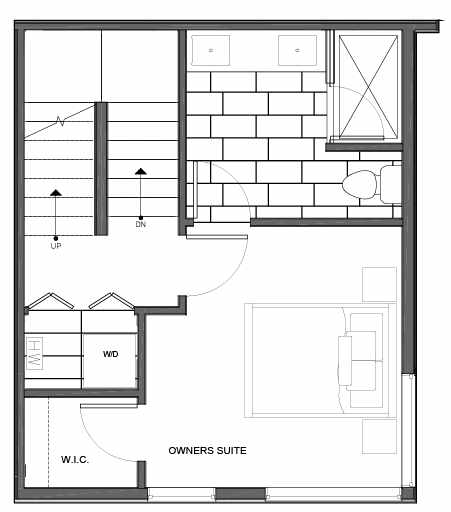 Third Floor Plan of 14339B Stone Ave N, One of the Maya Townhomes in Haller Lake