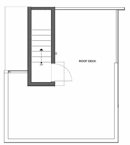 Roof Deck Floor Plan of 14339B Stone Ave N, One of the Maya Townhomes in Haller Lake