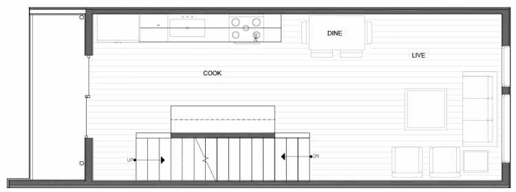 Second Floor Plan of 14339C Stone Ave N, One of the Maya Townhomes in Haller Lake