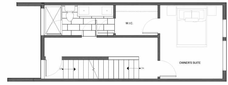 Third Floor Plan of 14339C Stone Ave N, One of the Maya Townhomes in Haller Lake