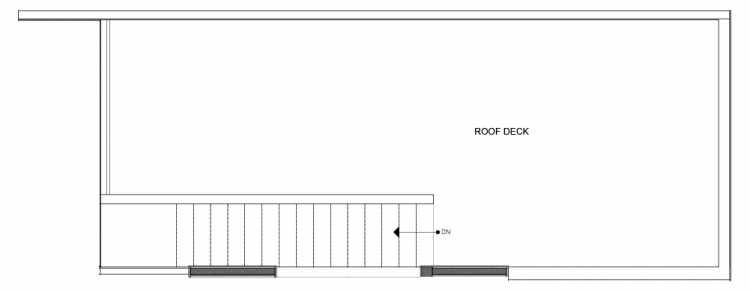 Roof Deck Floor Plan of 14339C Stone Ave N, One of the Maya Townhomes in Haller Lake