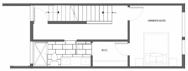 Third Floor Plan of 14339D Stone Ave N, One of the Maya Townhomes in Haller Lake
