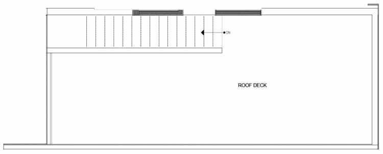 Roof Deck Floor Plan of 14339D Stone Ave N, One of the Maya Townhomes in Haller Lake