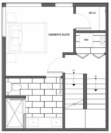 Third Floor Plan of 14339E Stone Ave N, One of the Maya Townhomes in Haller Lake